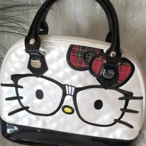 Hello Kitty Quilted Patent Dome Bag